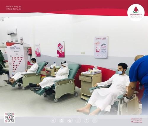 مركز مستلزمات طبية لمركز دمي للتبرع بالدم بالرس